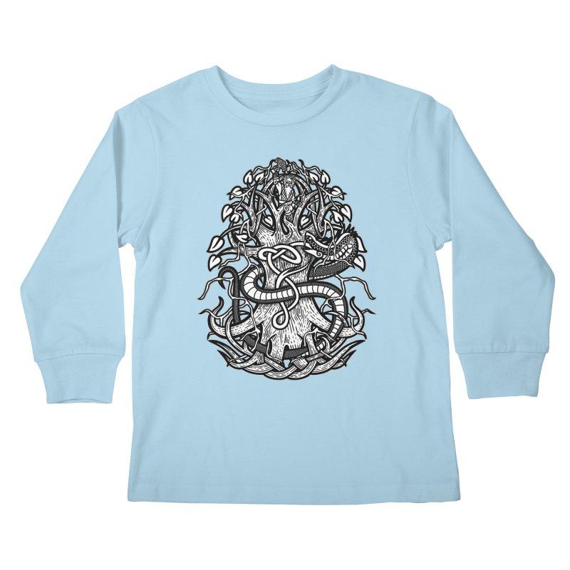Yggdrasil Ragnarok Kids Longsleeve T-Shirt by Celtic Hammer Club
