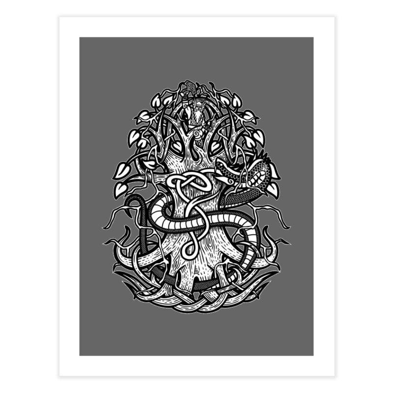 Yggdrasil Ragnarok Home Fine Art Print by Celtic Hammer Club
