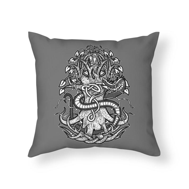 Yggdrasil Ragnarok Home Throw Pillow by Celtic Hammer Club
