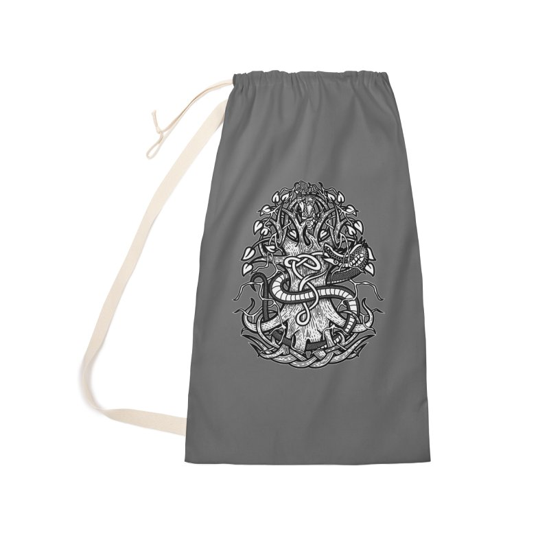 Yggdrasil Ragnarok Accessories Laundry Bag Bag by Celtic Hammer Club