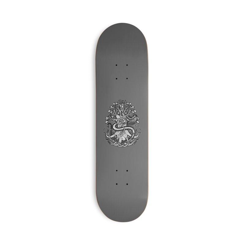 Yggdrasil Ragnarok Accessories Deck Only Skateboard by Celtic Hammer Club