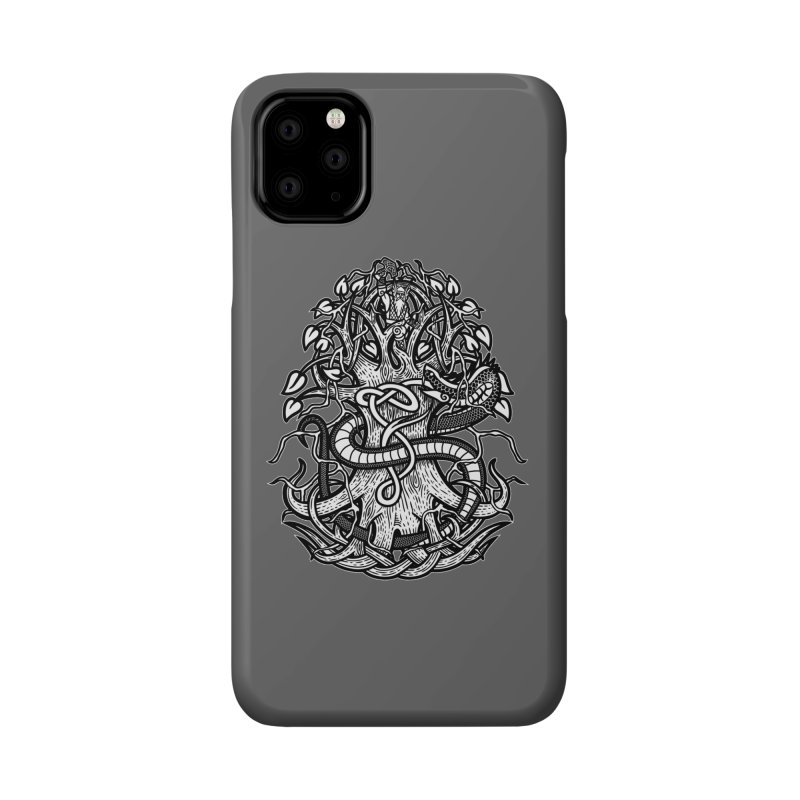 Yggdrasil Ragnarok Accessories Phone Case by Celtic Hammer Club