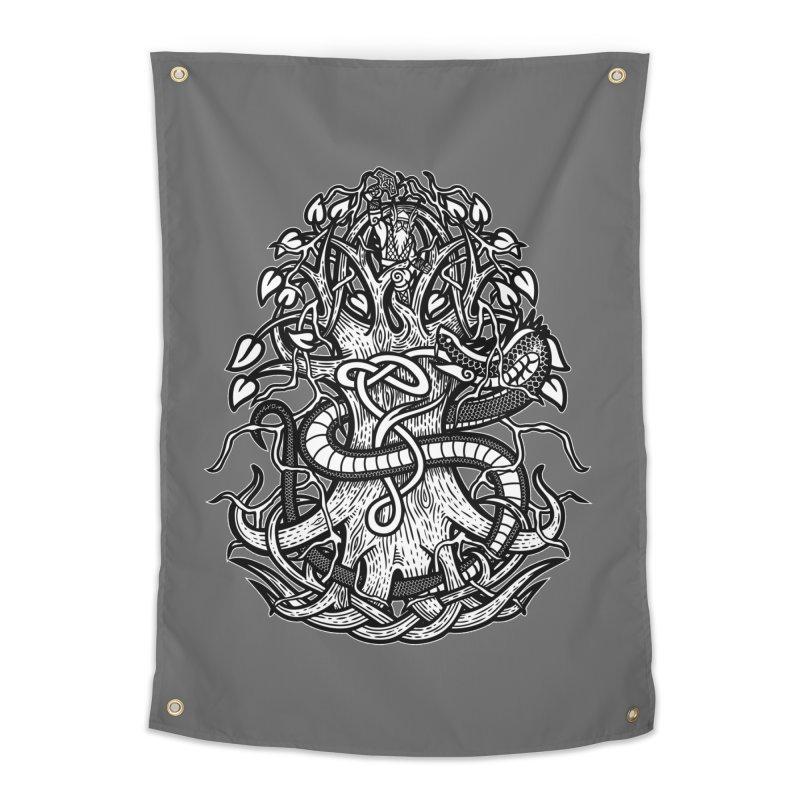 Yggdrasil Ragnarok Home Tapestry by Celtic Hammer Club