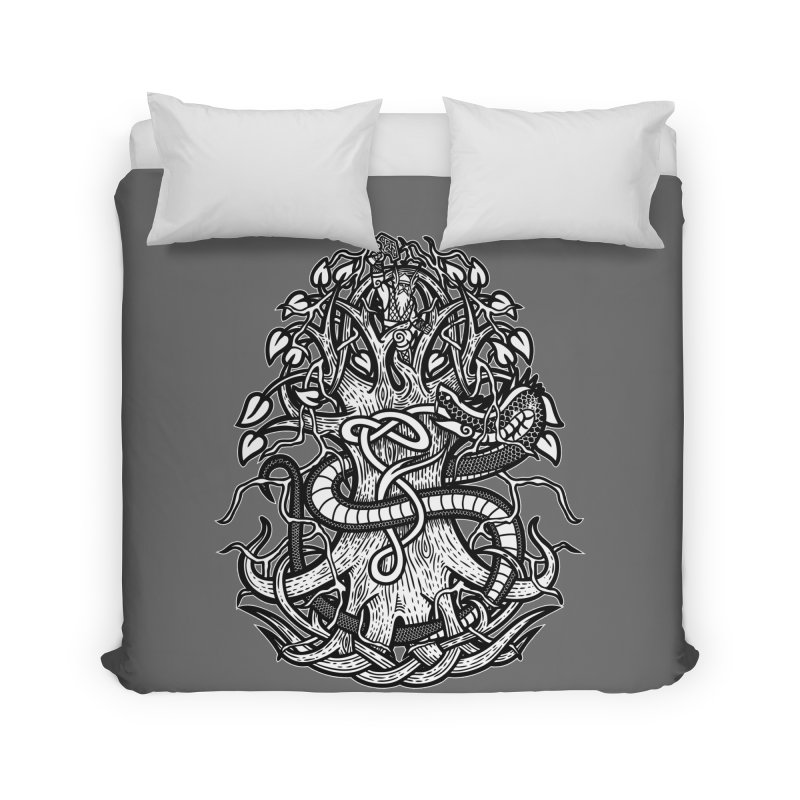 Yggdrasil Ragnarok Home Duvet by Celtic Hammer Club