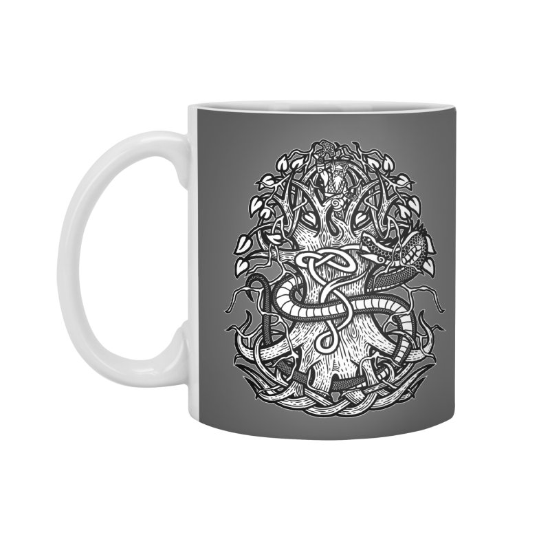 Yggdrasil Ragnarok Accessories Standard Mug by Celtic Hammer Club