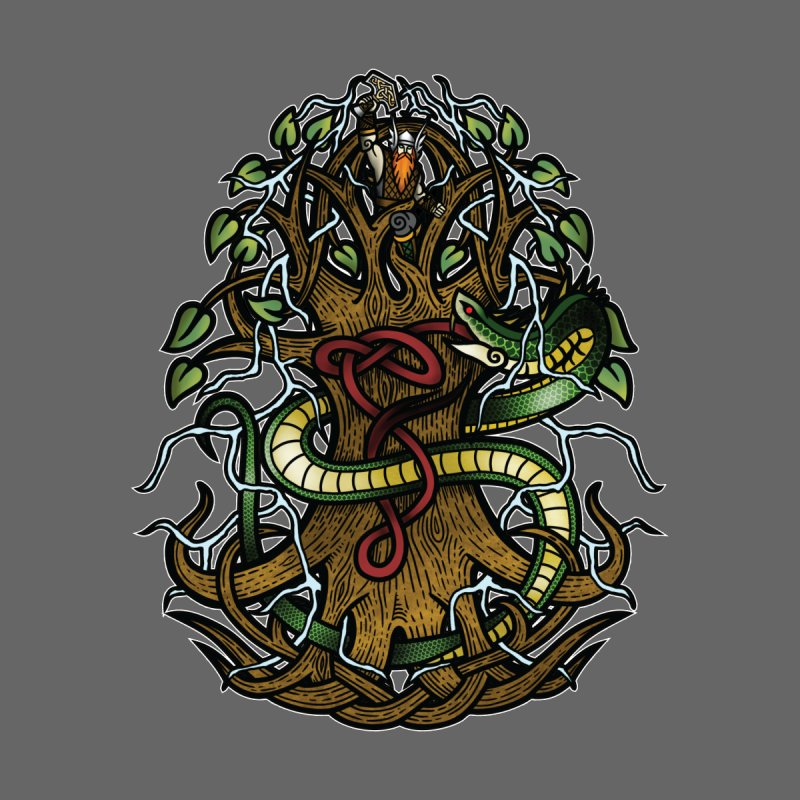 Yggdrasil Ragnarok (Full Color) Accessories Mug by Celtic Hammer Club