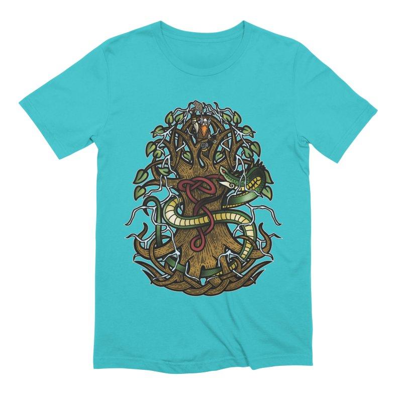 Yggdrasil Ragnarok (Full Color) Men's Extra Soft T-Shirt by Celtic Hammer Club