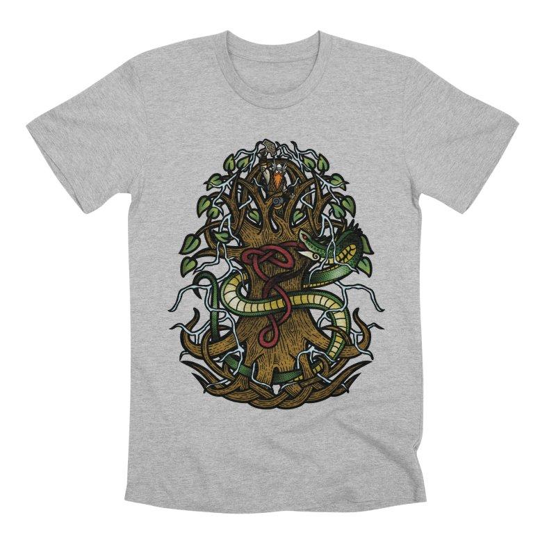 Yggdrasil Ragnarok (Full Color) Men's Premium T-Shirt by Celtic Hammer Club