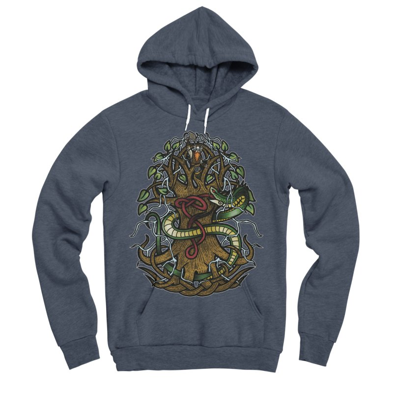 Yggdrasil Ragnarok (Full Color) Women's Sponge Fleece Pullover Hoody by Celtic Hammer Club