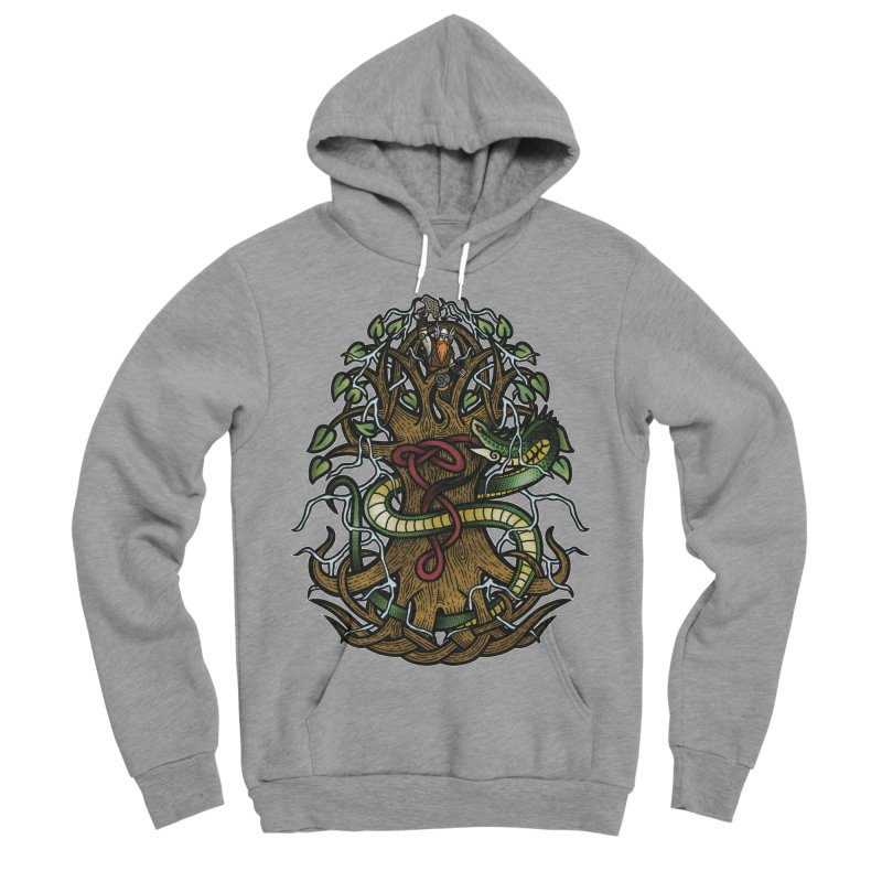 Yggdrasil Ragnarok (Full Color) Men's Sponge Fleece Pullover Hoody by Celtic Hammer Club