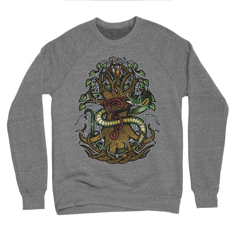 Yggdrasil Ragnarok (Full Color) Men's Sponge Fleece Sweatshirt by Celtic Hammer Club