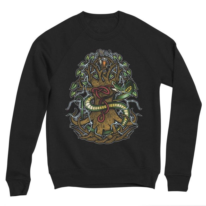 Yggdrasil Ragnarok (Full Color) Women's Sponge Fleece Sweatshirt by Celtic Hammer Club