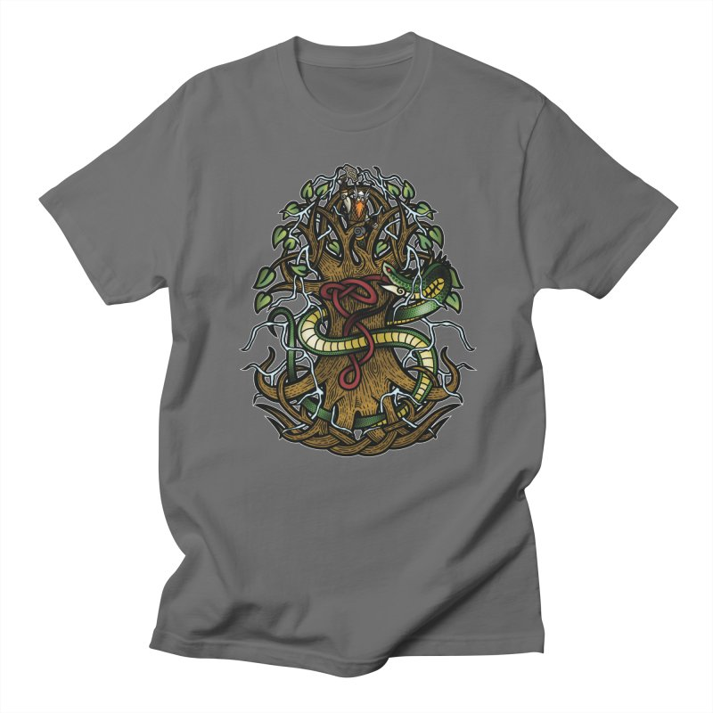 Yggdrasil Ragnarok (Full Color) Men's T-Shirt by Celtic Hammer Club