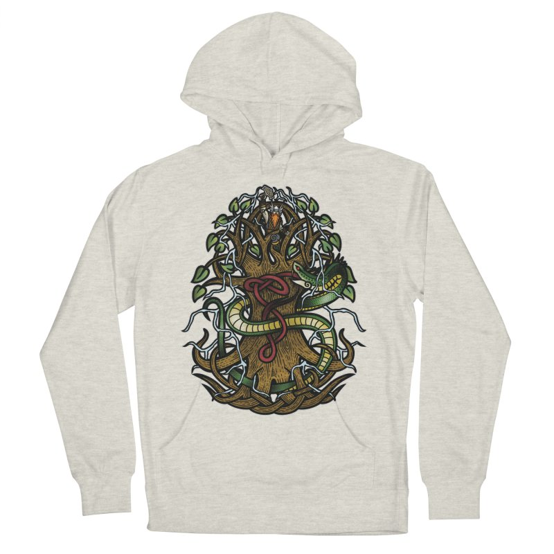 Yggdrasil Ragnarok (Full Color) Women's French Terry Pullover Hoody by Celtic Hammer Club