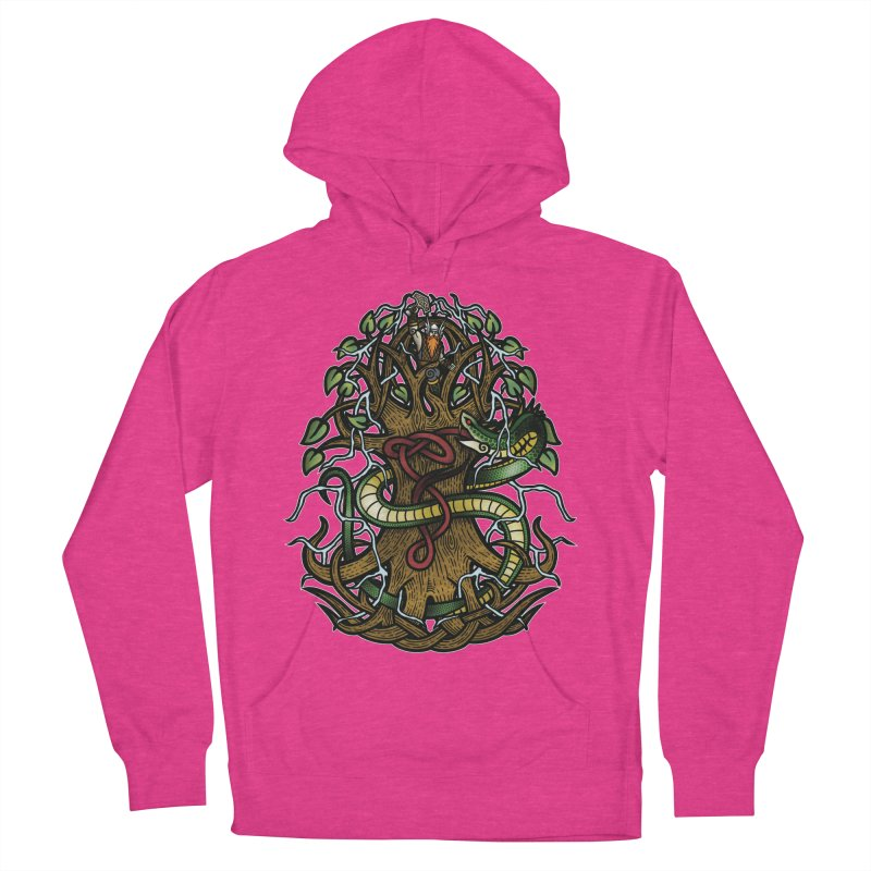 Yggdrasil Ragnarok (Full Color) Men's French Terry Pullover Hoody by Celtic Hammer Club