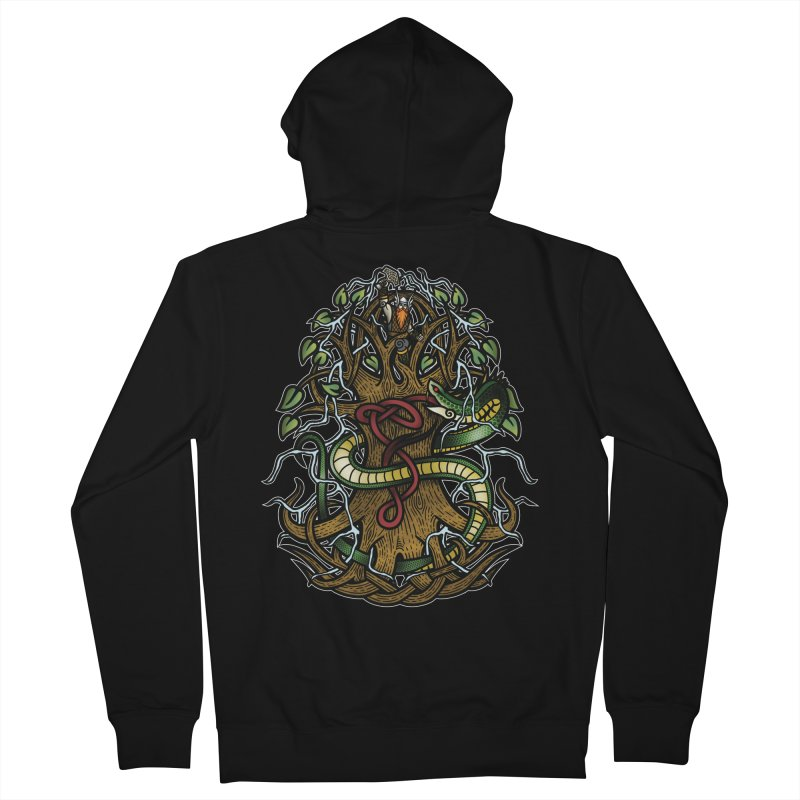 Yggdrasil Ragnarok (Full Color) Women's French Terry Zip-Up Hoody by Celtic Hammer Club