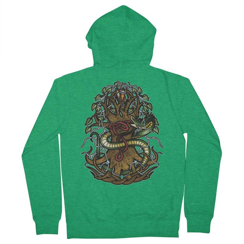 Yggdrasil Ragnarok (Full Color) Men's French Terry Zip-Up Hoody by Celtic Hammer Club