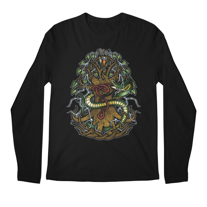 Yggdrasil Ragnarok (Full Color) Men's Regular Longsleeve T-Shirt by Celtic Hammer Club