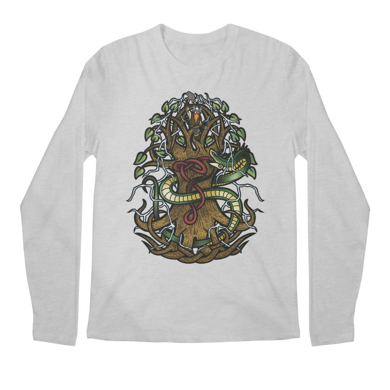 Yggdrasil Ragnarok (Full Color) Men's Regular Longsleeve T-Shirt by Celtic Hammer Club