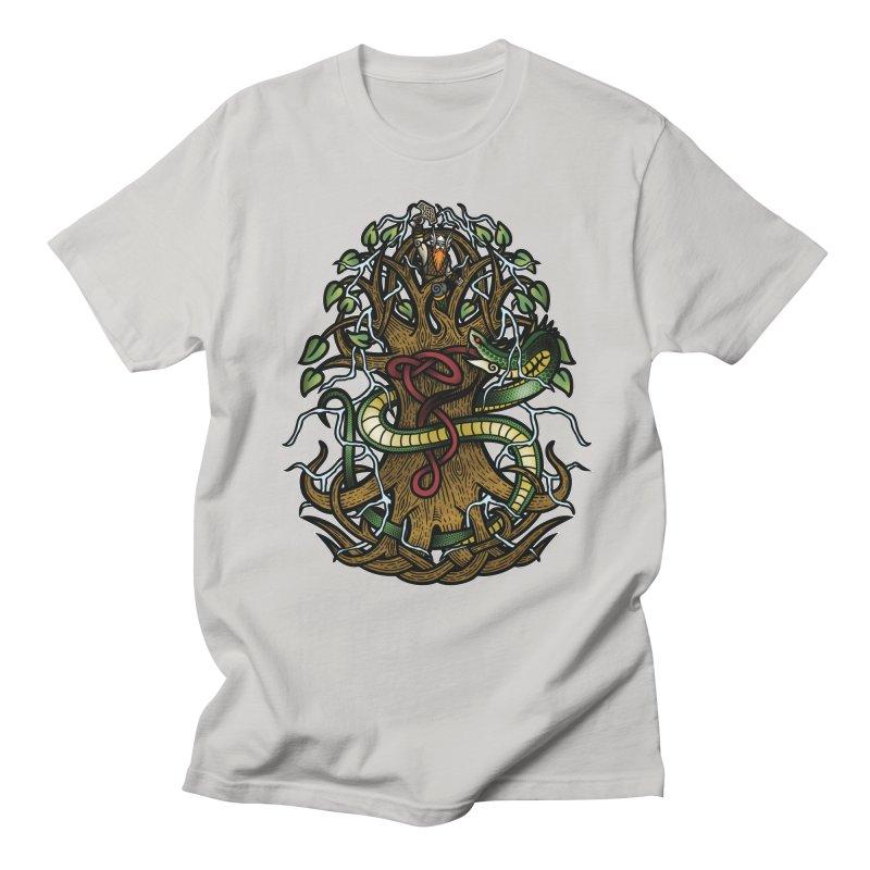 Yggdrasil Ragnarok (Full Color) Men's Regular T-Shirt by Celtic Hammer Club