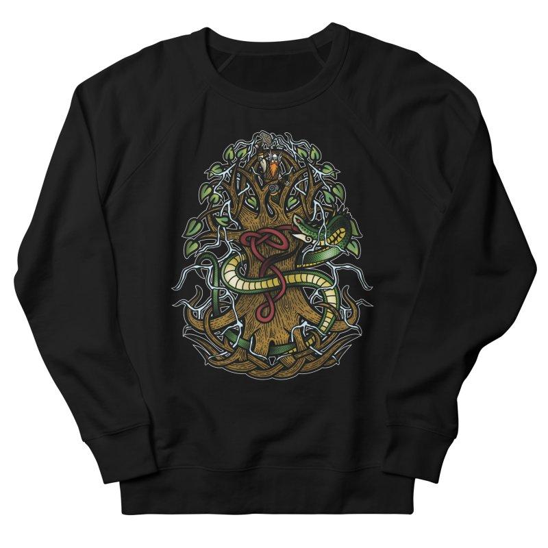 Yggdrasil Ragnarok (Full Color) Women's French Terry Sweatshirt by Celtic Hammer Club