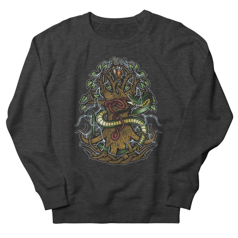 Yggdrasil Ragnarok (Full Color) Men's French Terry Sweatshirt by Celtic Hammer Club