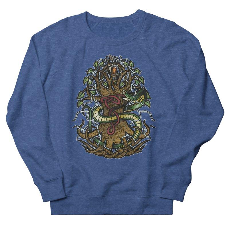 Yggdrasil Ragnarok (Full Color) Men's Sweatshirt by Celtic Hammer Club