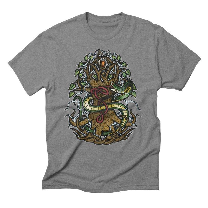 Yggdrasil Ragnarok (Full Color) Men's Triblend T-Shirt by Celtic Hammer Club