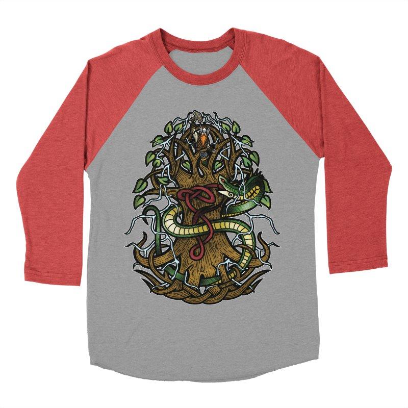 Yggdrasil Ragnarok (Full Color) Women's Baseball Triblend Longsleeve T-Shirt by Celtic Hammer Club