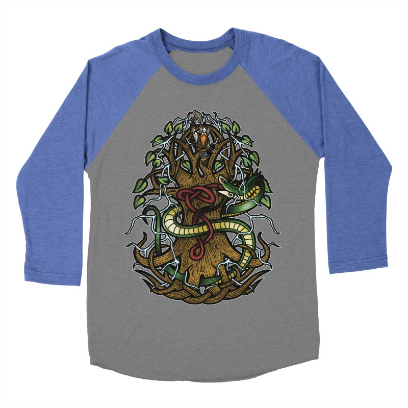 Yggdrasil Ragnarok (Full Color) Men's Baseball Triblend Longsleeve T-Shirt by Celtic Hammer Club