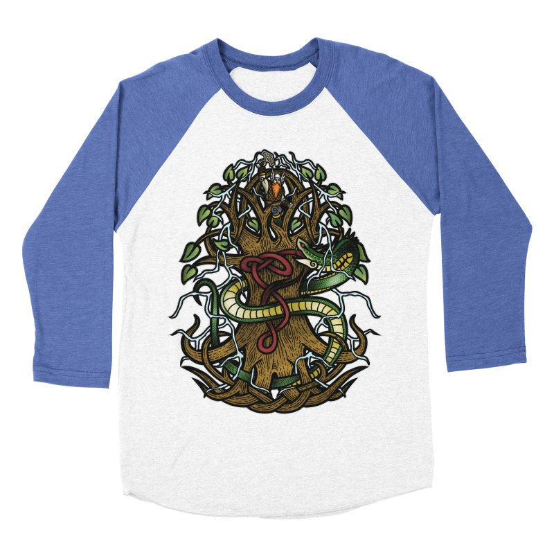 Yggdrasil Ragnarok (Full Color) Men's Baseball Triblend Longsleeve T-Shirt by Celtic Hammer Club