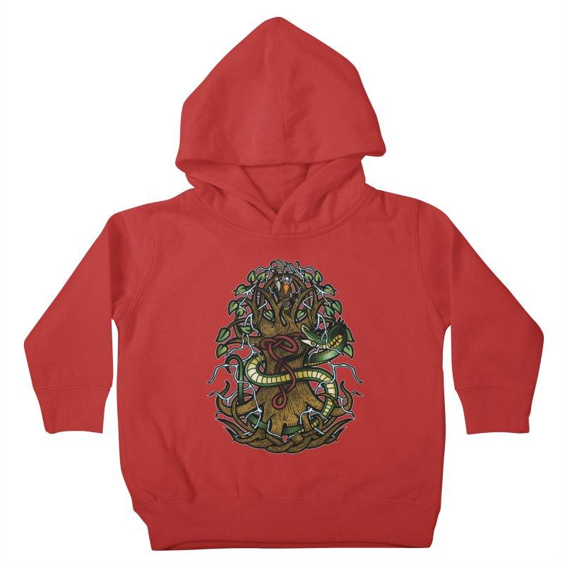 Yggdrasil Ragnarok (Full Color) Kids Toddler Pullover Hoody by Celtic Hammer Club