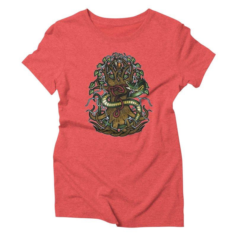 Yggdrasil Ragnarok (Full Color) Women's Triblend T-Shirt by Celtic Hammer Club