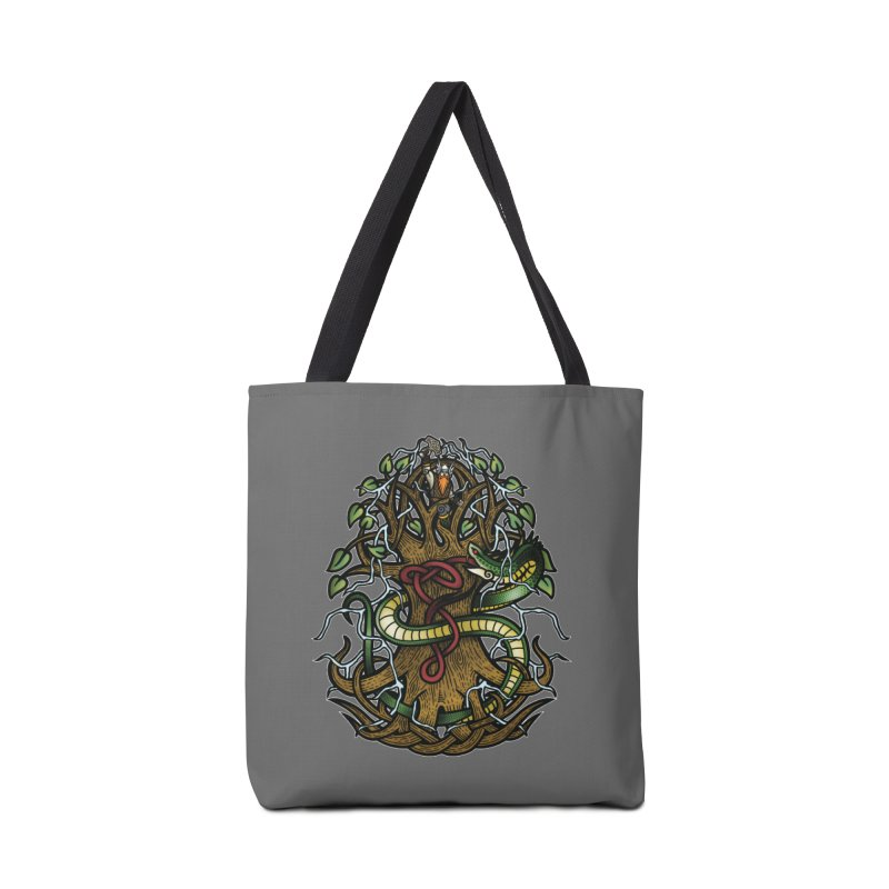 Yggdrasil Ragnarok (Full Color) Accessories Tote Bag Bag by Celtic Hammer Club