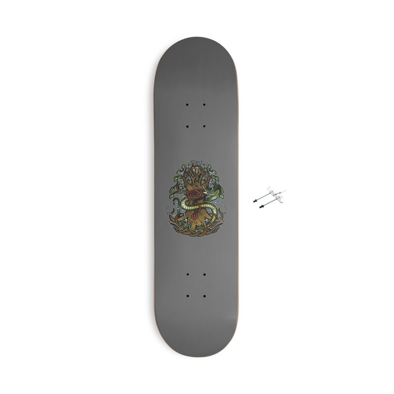 Yggdrasil Ragnarok (Full Color) Accessories With Hanging Hardware Skateboard by Celtic Hammer Club