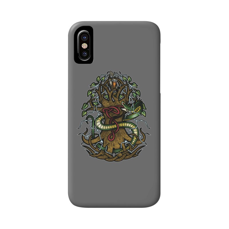 Yggdrasil Ragnarok (Full Color) Accessories Phone Case by Celtic Hammer Club