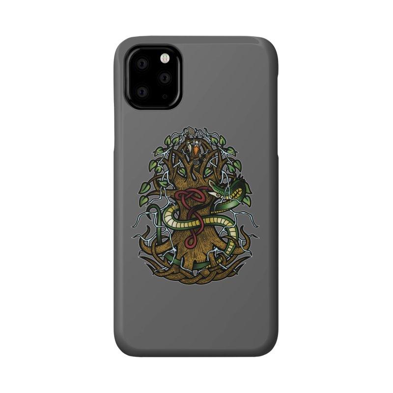 Yggdrasil Ragnarok (Full Color) Accessories Phone Case by Celtic Hammer Club