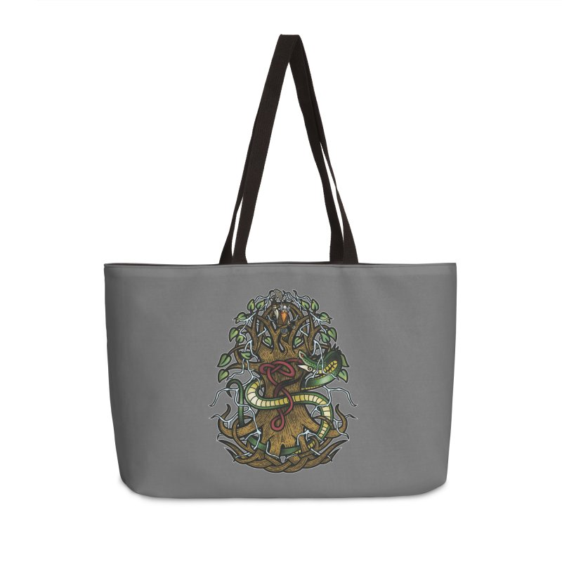 Yggdrasil Ragnarok (Full Color) Accessories Weekender Bag Bag by Celtic Hammer Club