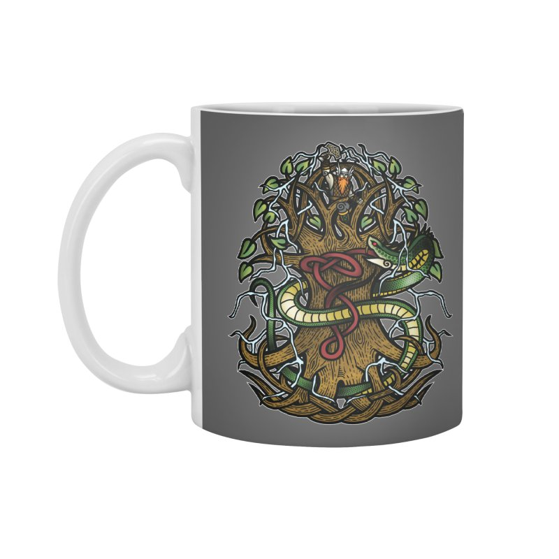 Yggdrasil Ragnarok (Full Color) Accessories Standard Mug by Celtic Hammer Club