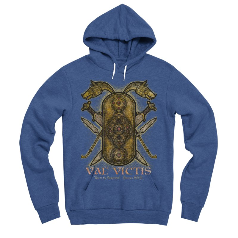 Vae Victis - Woe to the Vanquished Men's Sponge Fleece Pullover Hoody by Celtic Hammer Club