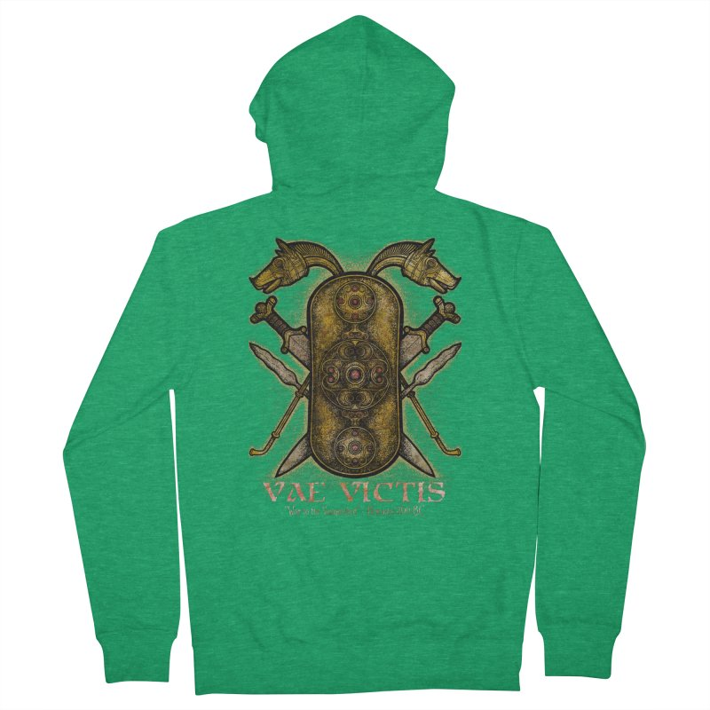 Vae Victis - Woe to the Vanquished Men's Zip-Up Hoody by Celtic Hammer Club