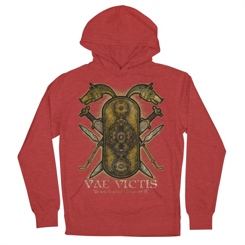 Vae Victis - Woe to the Vanquished Men's French Terry Pullover Hoody by Celtic Hammer Club