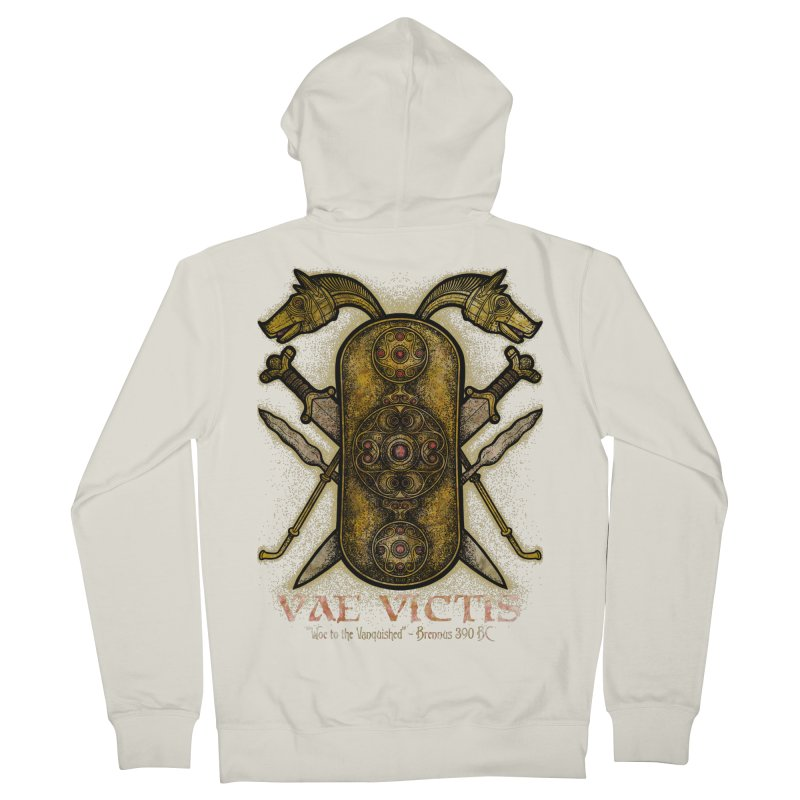 Vae Victis - Woe to the Vanquished Women's French Terry Zip-Up Hoody by Celtic Hammer Club