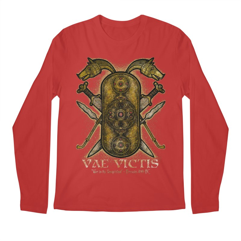 Vae Victis - Woe to the Vanquished Men's Regular Longsleeve T-Shirt by Celtic Hammer Club