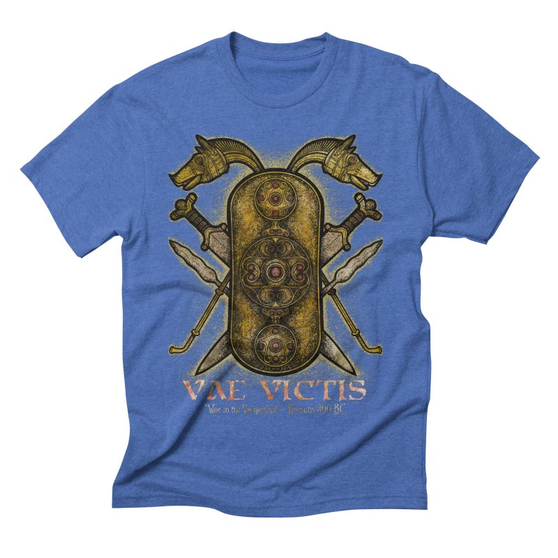 Vae Victis - Woe to the Vanquished Men's Triblend T-Shirt by Celtic Hammer Club