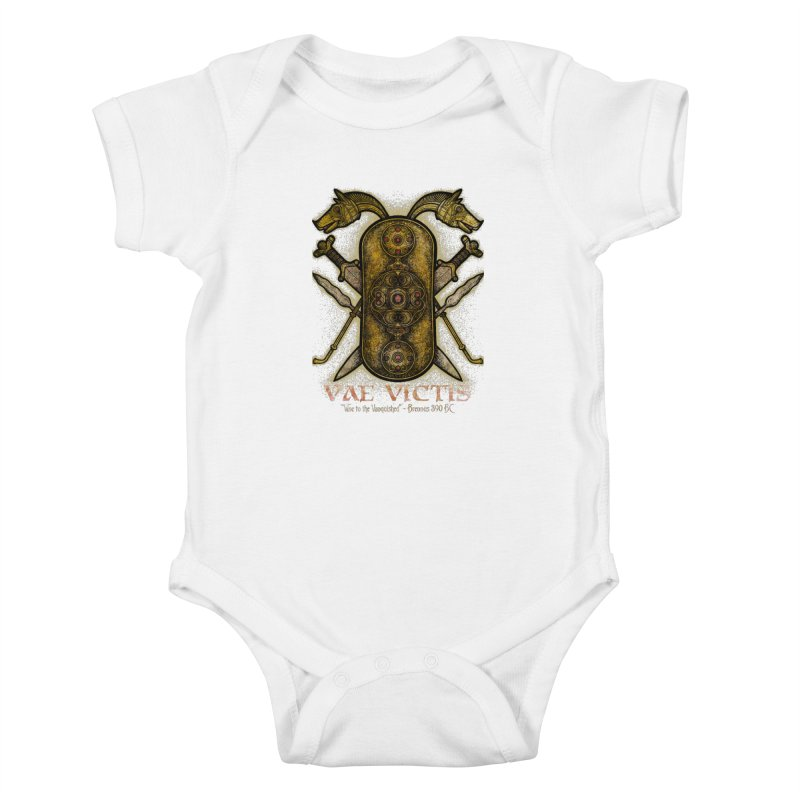 Vae Victis - Woe to the Vanquished Kids Baby Bodysuit by Celtic Hammer Club