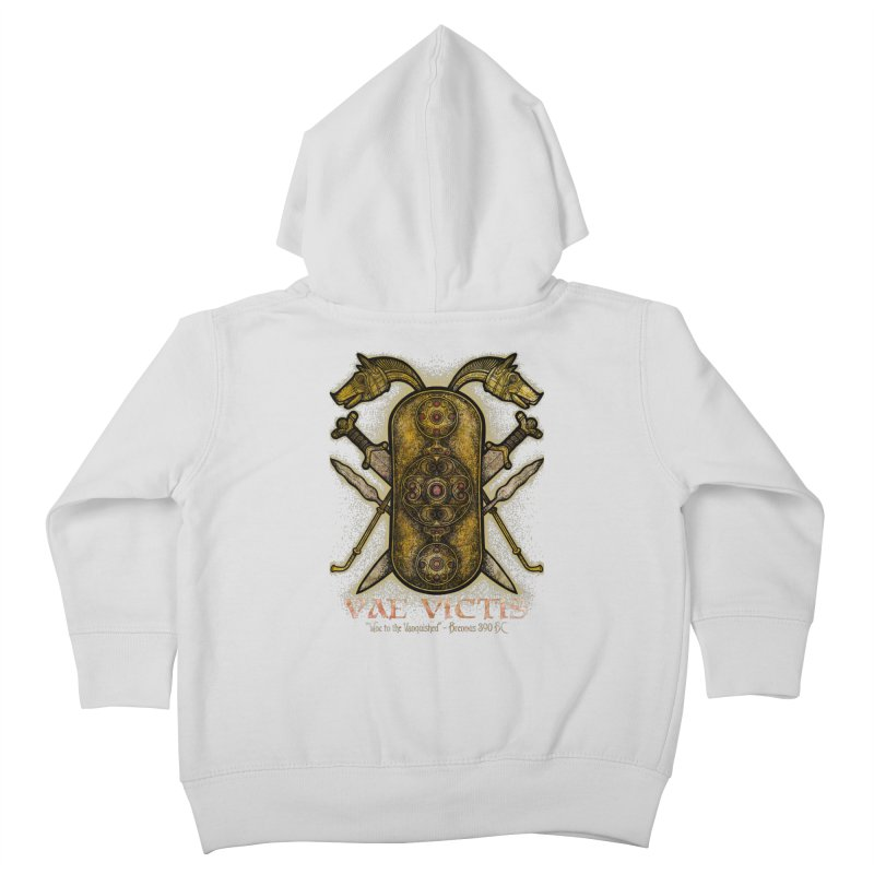 Vae Victis - Woe to the Vanquished Kids Toddler Zip-Up Hoody by Celtic Hammer Club