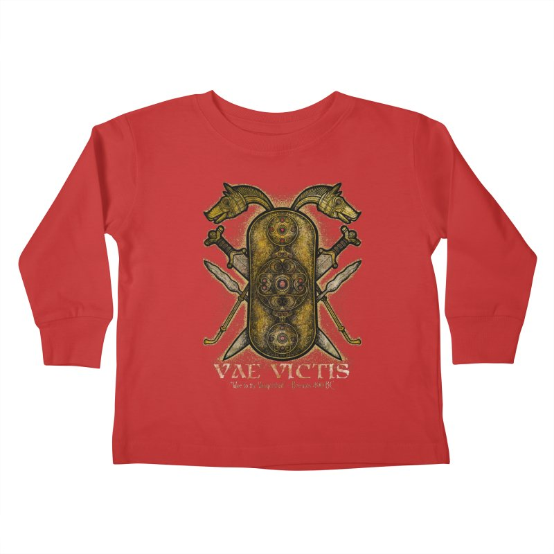 Vae Victis - Woe to the Vanquished Kids Toddler Longsleeve T-Shirt by Celtic Hammer Club