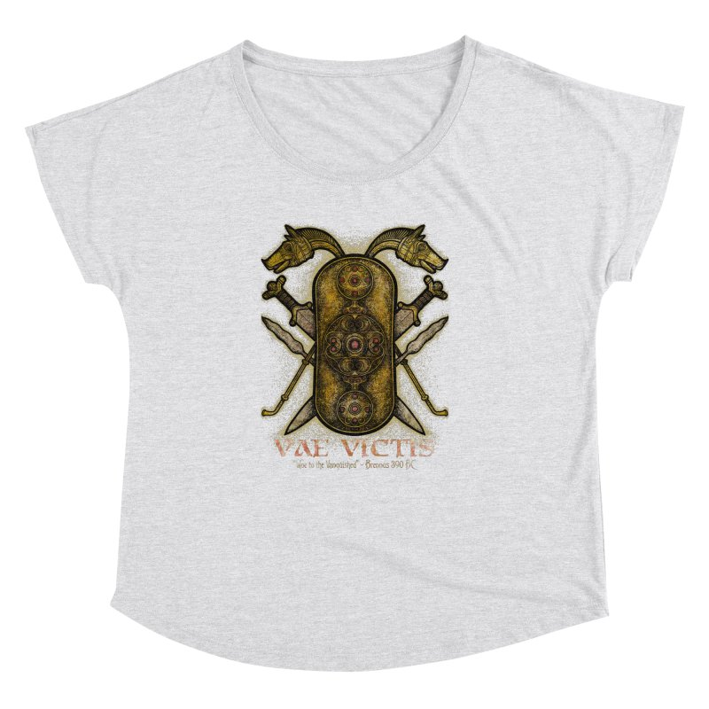 Vae Victis - Woe to the Vanquished Women's Dolman Scoop Neck by Celtic Hammer Club