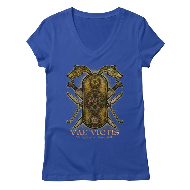 Vae Victis - Woe to the Vanquished Women's Regular V-Neck by Celtic Hammer Club